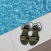 LECAT SANDAL EYELETS - SONIA EXTRA - MILITAIRE