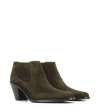 JANE 7 LOW CHELSEA BOOT - VEAU VELOURS - OLIVE
