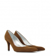 JASPE 7 PUMPS - VEAU VELOURS - TABAC