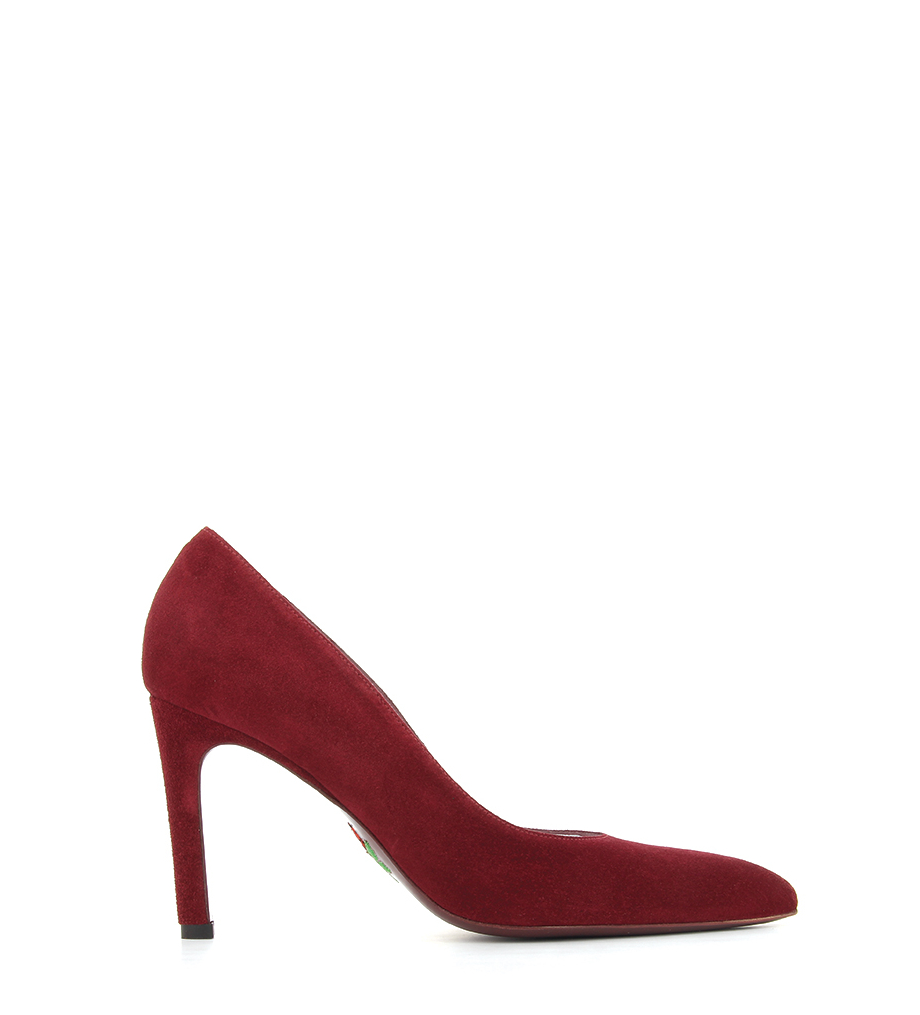 FOREL 7 PUMPS - VEAU VELOURS - BORDEAUX