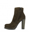 LERY 7 ZIP BOOT - VEAU VELOURS - OLIVE