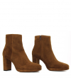 ELFIE 7 ZIP BOOT - VEAU VELOURS - TABAC