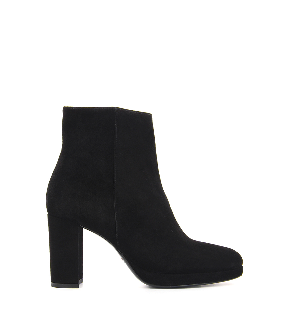 ELFIE 7 ZIP BOOT - VEAU VELOURS - NOIR