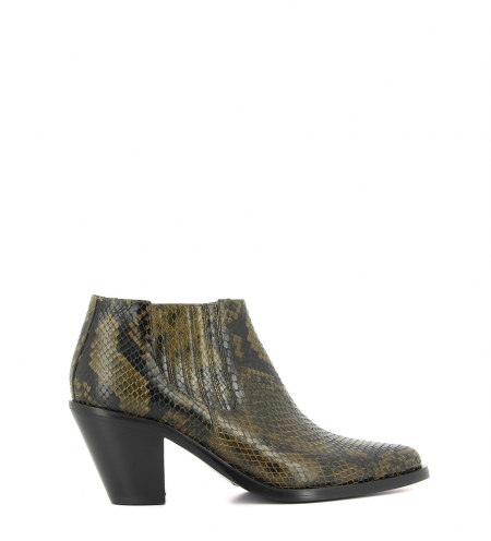 672e67f0f458 JANE 7 LOW CHELSEA BOOT - SNAKE PRINT - MILITAIRE ...