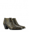 JANE 7 LOW CHELSEA BOOT - SNAKE PRINT - MILITAIRE