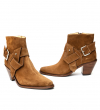 JANE 7 TIE ZIP BOOT - VEAU VELOURS - CIGARE