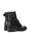 DAKOTA 4 RANGER ROSE BOOT - CUIR LISSE BRILLANT - NOIR