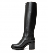 DAYTONA 7 TWO ZIP BOTTE - CUIR LISSE BRILLANT - NOIR