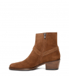 JANE 5 HARNAIS ZIP BOOT - VEAU VELOURS - TABAC