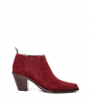 JANE 7 LOW CHELSEA BOOT - VEAU VELOURS - BORDEAUX
