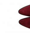 JANE 7 LOW CHELS BOO - VEAU VELOURS - BORDEAUX