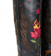 JUNE 4 FIRE WEST BOTTE - CUIR LISSE BRILLANT/VEAU VELOURS - NOIR/MULTICOLORE