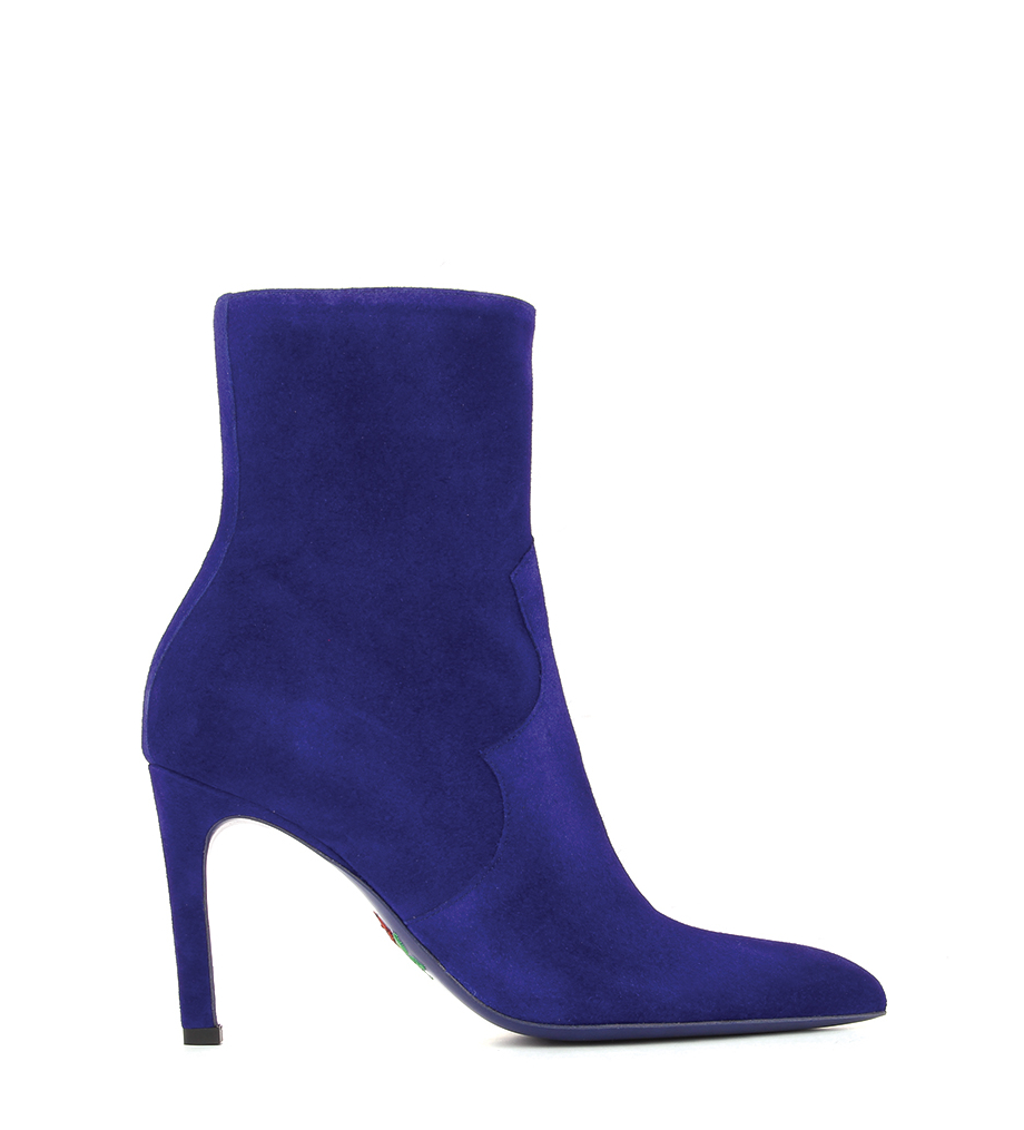 FOREL 7 WES ZIP BOOT - VEAU VELOURS - IRIS