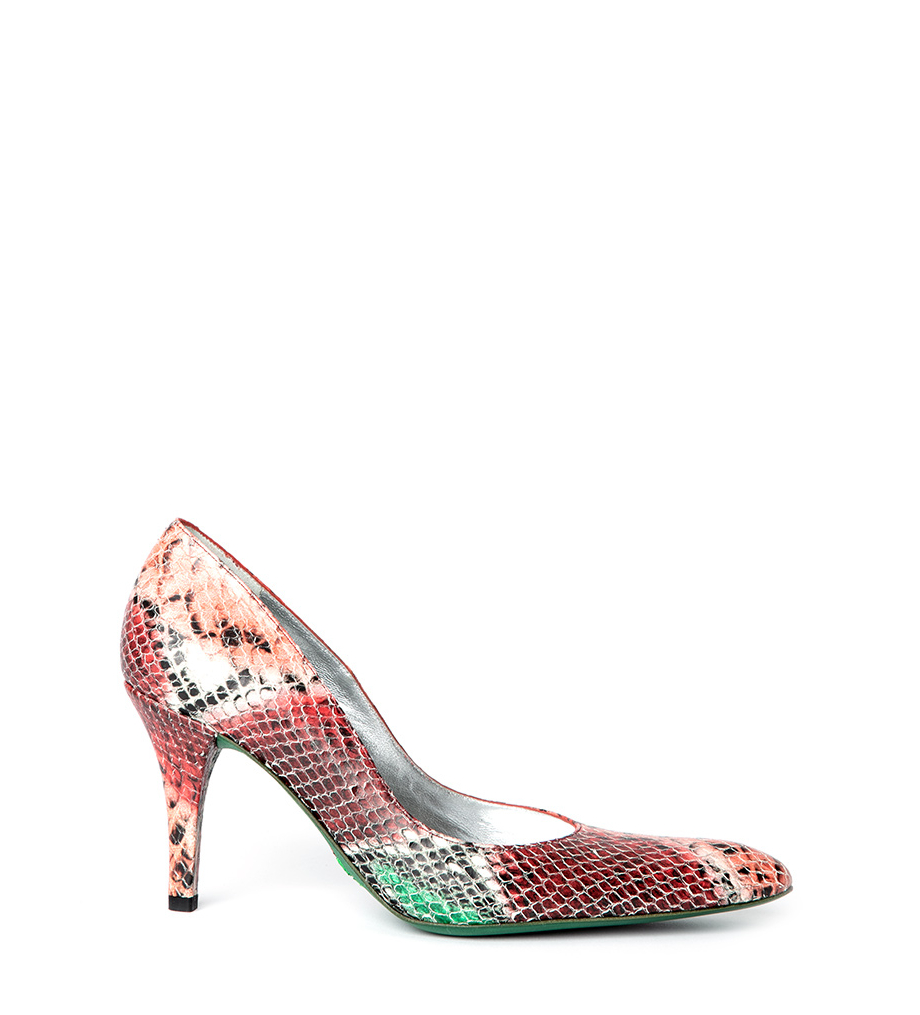 JASPE 7 PUMPS - SMERALD - ROUGE