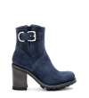 JUSTY 9 SMAL GER BUC - CUIR VELOURS - DENIM