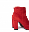 ELFIE 7 ZIP BOOT - CUIR VELOURS - GINGER