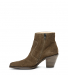 JANE 7 ZIP BOOT - CUIR VELOURS - ARMY