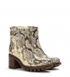 JUSTY 7 SMALL GERO BUCKLE - SNAKE PRINT - NATUREL