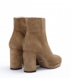ELFIE 7 ZIP BOOT - CUIR VELOURS - TAUPE