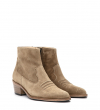 JANE 5 WEST ZIP BOOT - CUIR VELOURS - TAUPE