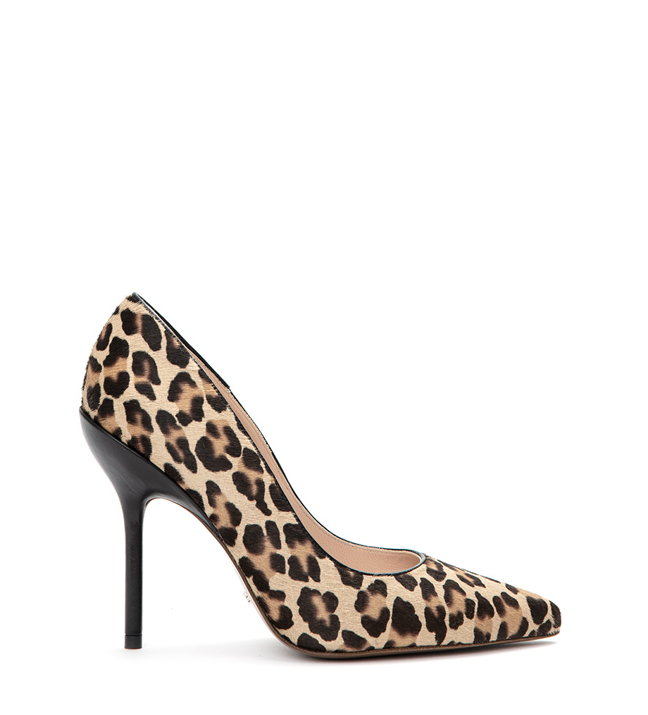 JONIE 10 PIPING PUMP - PONY/VEAU LISSE - LEOPARD/NOIR
