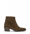 LIME 5 ZIP BOOT - CUIR VELOURS/SNAKE PRINT - ARMY/KAKI