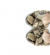 ELISA 7 CROSS SANDAL - SNAKE PRINT - NATUREL