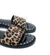 LENNIE ANIMAL STUD MULE SANDAL - PONY - LEOPARD