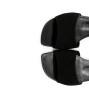 BLISS ANKLE STRAP SANDAL - CUIR GLACE/CHEVRE VELOURS - NOIR/NOIR