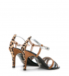 BLISS 7 ANIMAL MULTI BRIDE STUD SANDAL - MIX AFRO PONY - LEOPARD/CAMEL