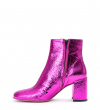 EAGLES 7 SE ZIP BOOT - CUIR METAL CRAC - MAGENTA