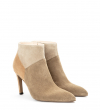 FOREL 7 LOW ZIP BOOT - MIX CUIR VELOUR - CAPPUCCINO/TAUP/DUN