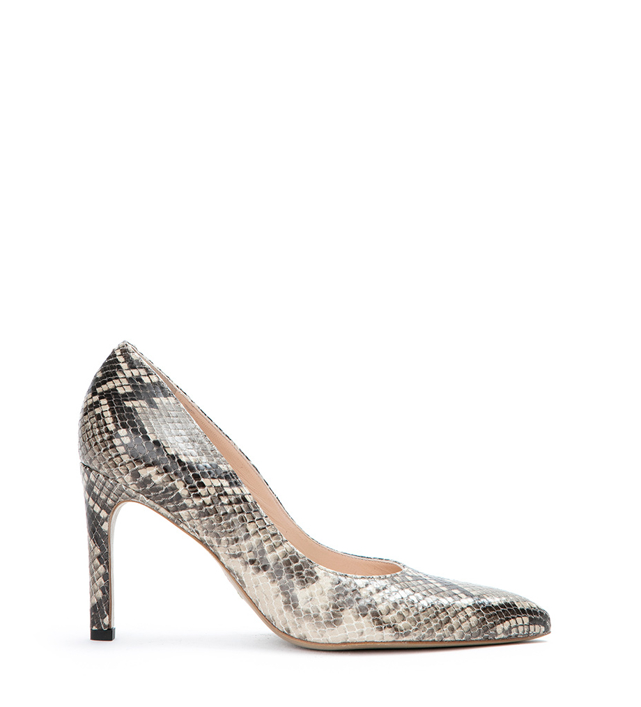 FOREL 7 PUMPS - SNAKE PRINT - NATUREL