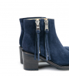 DAYTONA 7 TWO Z BOOT - CUIR VELOURS - DENIM