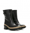 Daryl 4 Fur Mid Buckle Botte - Cuir Graine - Noir