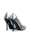 Jonie 10 Piping Fabric Pump - Micro Sequins/Crme/Crme - Argent