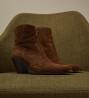 Jane 7 Western Zip Boot - Cuir Velours - Tabac