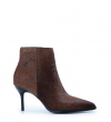 Jamie 7 Animal Zip Boot - Poils Sauvage/Veau Lisse - Marron