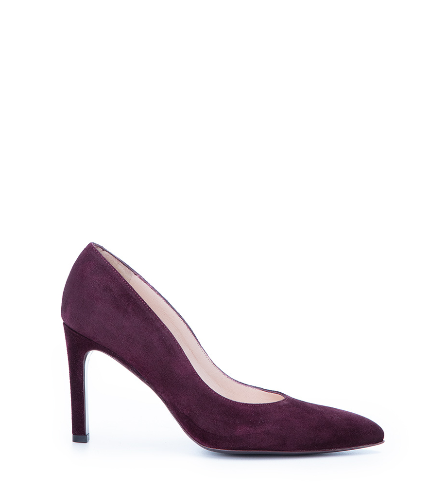 Forel 7 Pump - Cuir Velours - Amarone