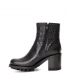 Justy 7 Small Gero Buckle - Croco - Noir