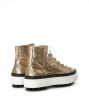 Nakano Hi Top Sneakers - Sequins/Cuir Lisse - Or