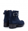 JUSTY 4 SMALL GE BUC - CUIR VELOURS - DENIM