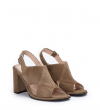 SHILOH 8 STRAP SANDA - CUIR VELOURS - TAUPE
