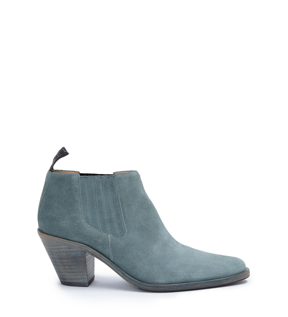 JANE 7 LOW CHEL BOOT - CUIR VELOURS - STONE