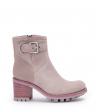 JUSTY 7 SMALL GERO BUCKLE - CUIR VELOURS - NUDE