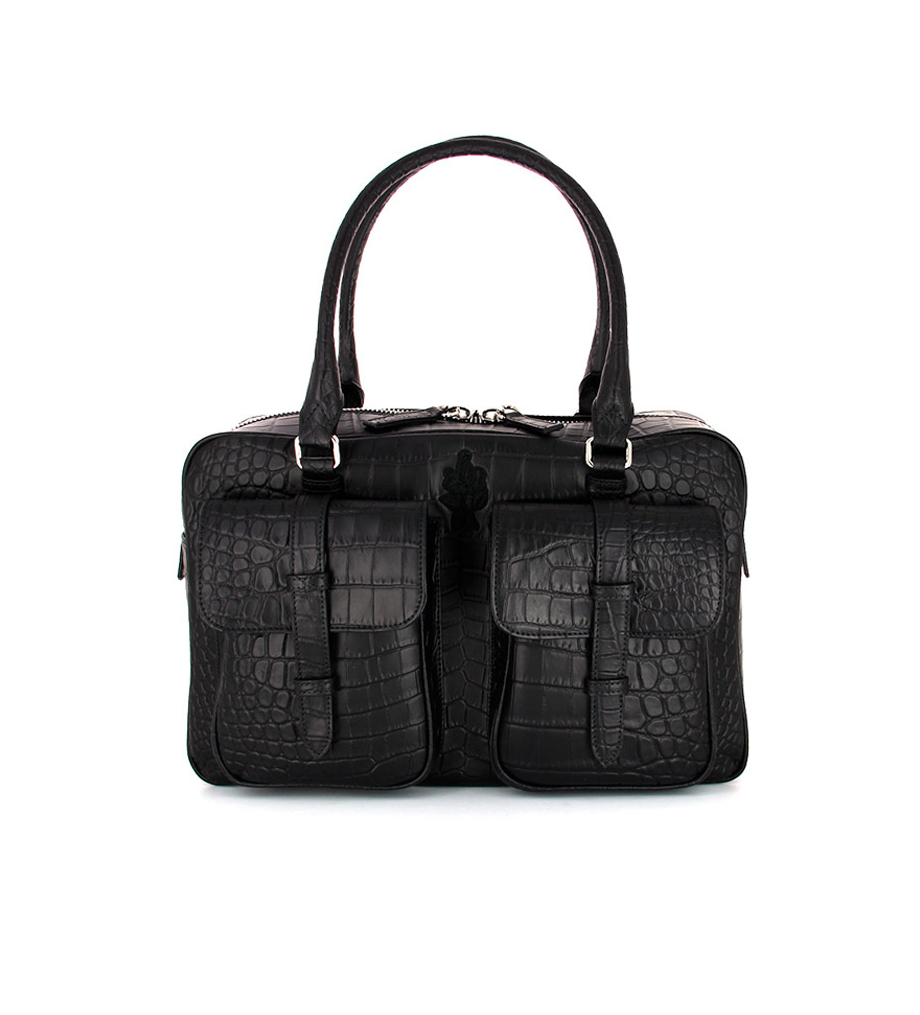 TITI BAG - CROCO MAT - NOIR