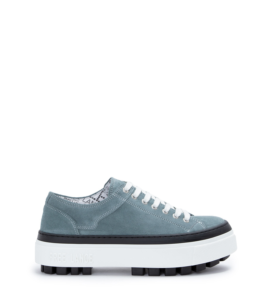 NAKANO LOW TOP SNEAKERS - CUIR VELOURS - STONE