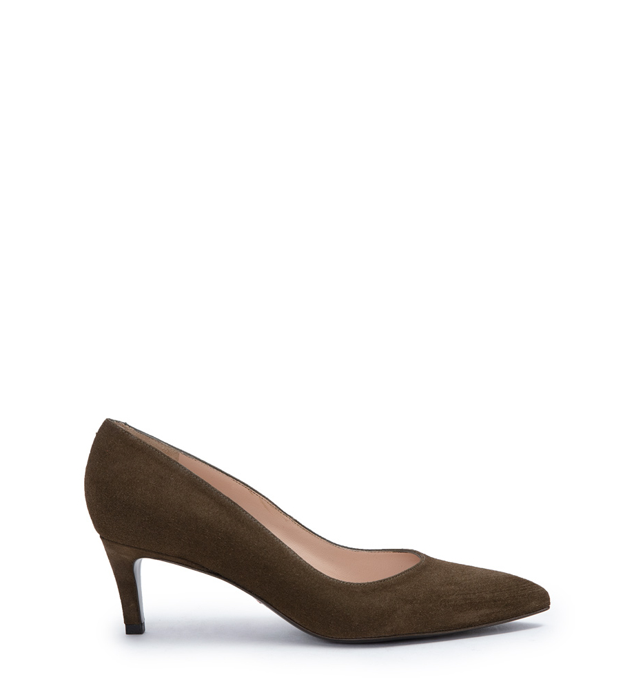 ITLYS 4 PUMPS - CUIR VELOURS - ARMY