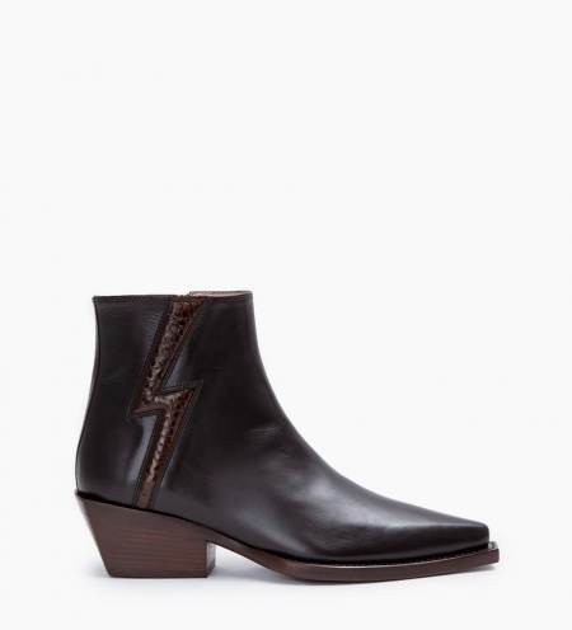 Calamity 4 Stardust Zip Boots - Veau Lisse Mat/Snake - Truffe/Truffe