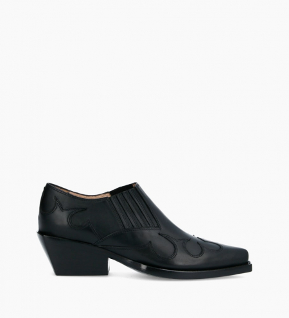 Calamity West Low Boots - Veau Lisse Mat - Noir